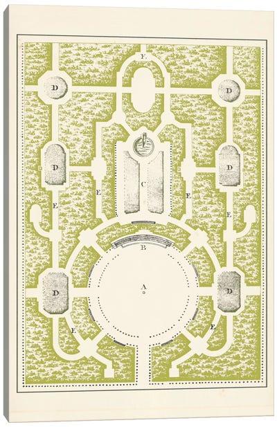 Green Garden Maze I Canvas Art Print