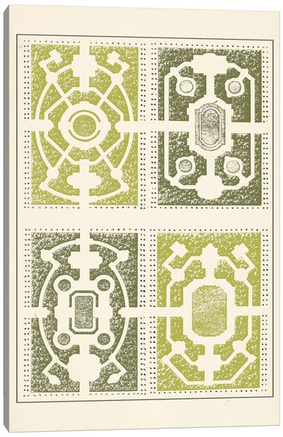 Green Garden Maze II Canvas Art Print
