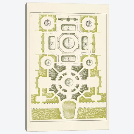 Green Garden Maze III Canvas Print #JFB3} by J.F. Blondel Canvas Print