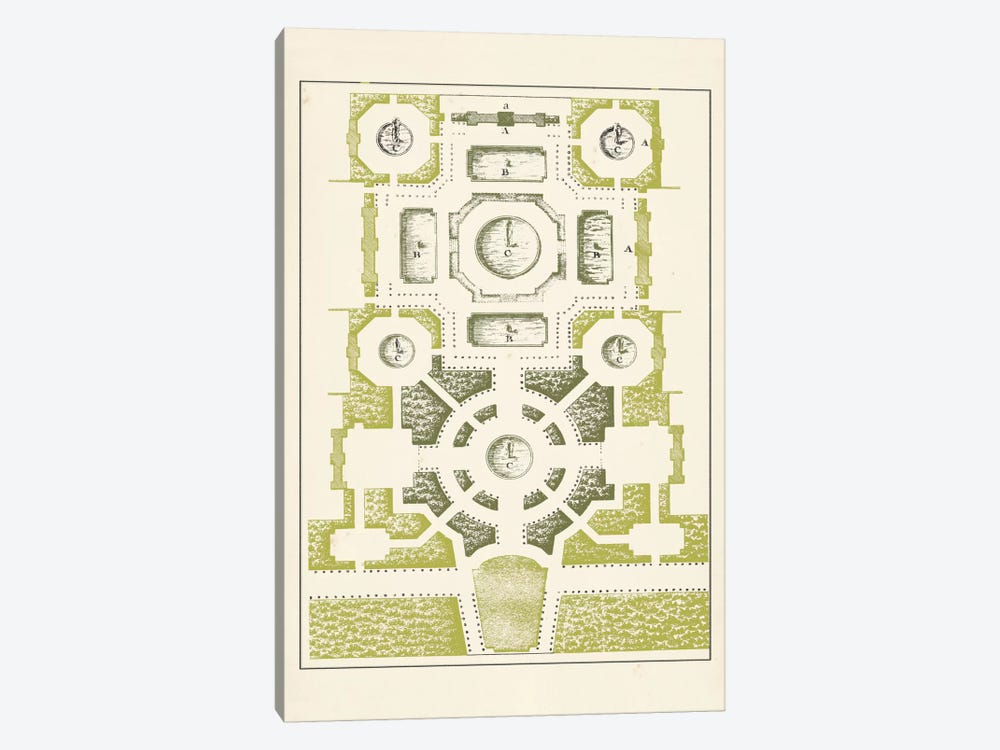 Green Garden Maze III by J.F. Blondel 1-piece Art Print