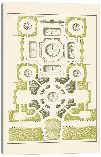 Green Garden Maze III Canvas Art Print