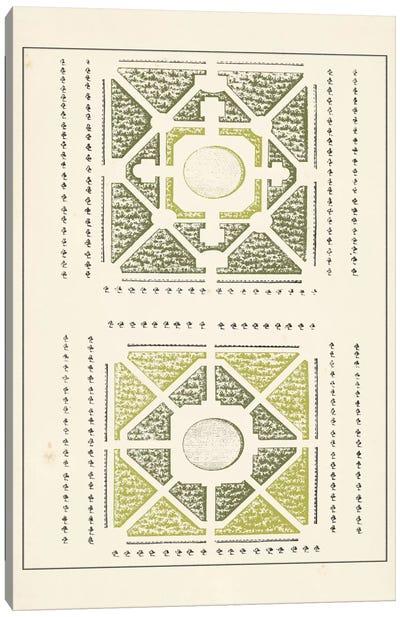 Green Garden Maze IV Canvas Art Print