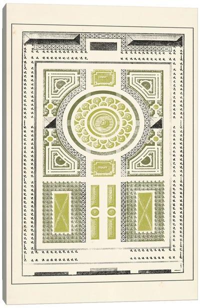 Green Garden Maze V Canvas Art Print