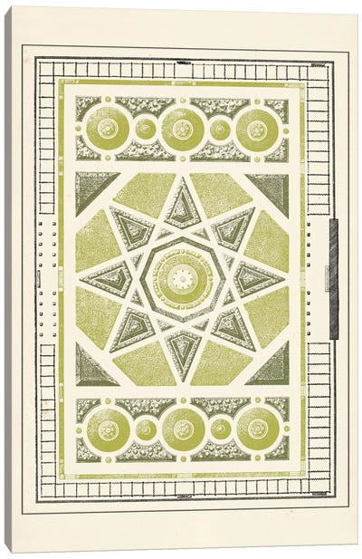 Green Garden Maze VI Canvas Art Print