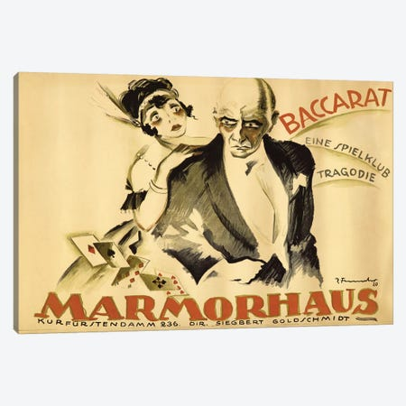 Baccarat Marmorhaus, 1920 Canvas Print #JFE1} by Josef Fenneker Canvas Artwork