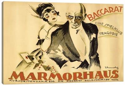 Baccarat Marmorhaus, 1920 Canvas Art Print