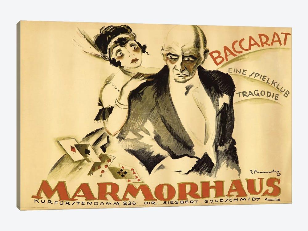 Baccarat Marmorhaus, 1920 by Josef Fenneker 1-piece Canvas Wall Art