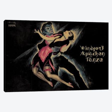 Windsor's Apachen Tänze German Poster, 1921 Canvas Print #JFE2} by Josef Fenneker Canvas Artwork