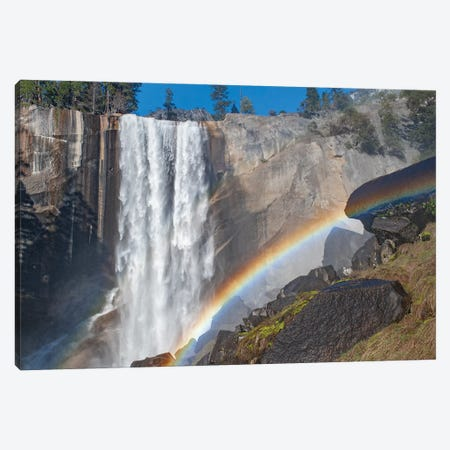 Waterfall and rainbow, Vernal Falls, Yosemite National Park, California Canvas Print #JFF103} by Jeff Foott Canvas Art