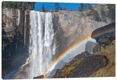 Waterfall and rainbow, Vernal Falls, Yosemite National Park, California Canvas Art Print