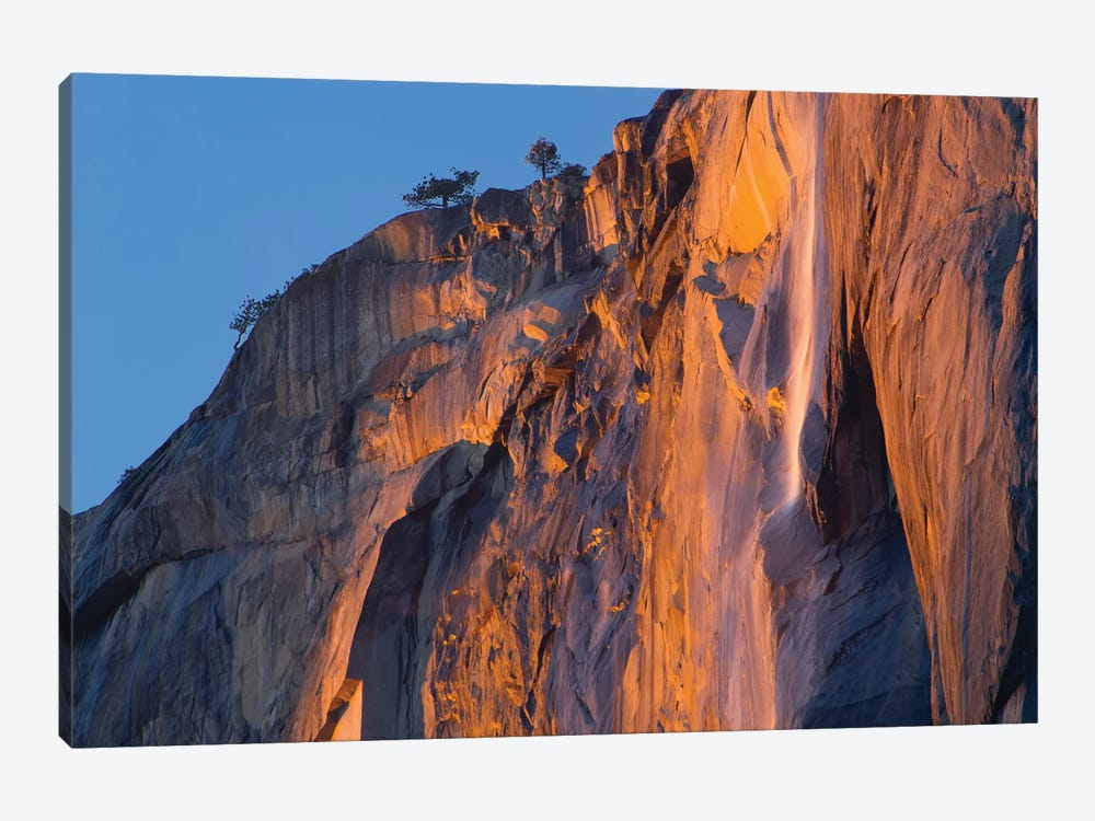 Waterfall in winter, Horsetail Fall, Yosemite National Park, California by Jeff Foott 1-piece Canvas Artwork