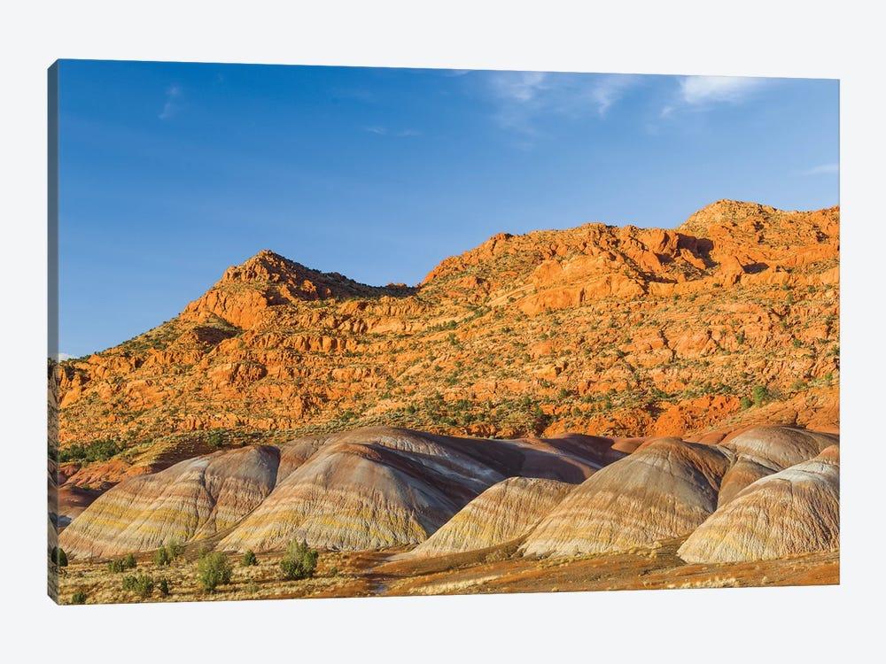 Bentonite hills, Vermilion Cliffs National Monument, Arizona by Jeff Foott 1-piece Canvas Art