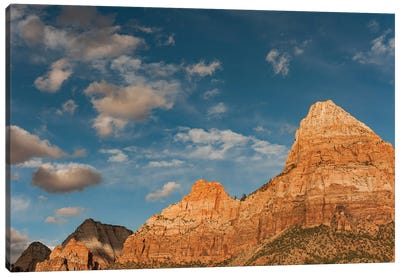 Bridge Mountain and Twin Brothers, Zion National Park, Utah Canvas Art Print