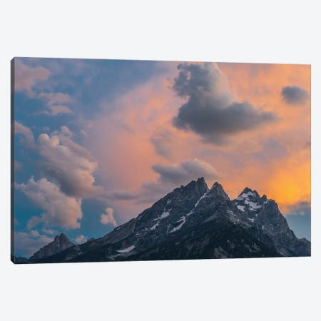 Clouds at sunset over Grand Teton Range, Grand Teton National Park, Wyoming Canvas Print #JFF21} by Jeff Foott Canvas Art