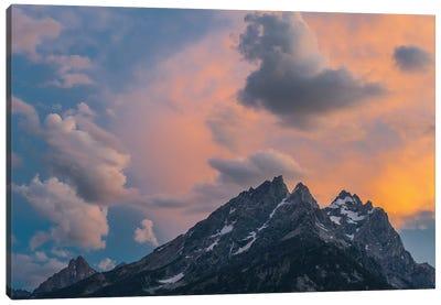 Clouds at sunset over Grand Teton Range, Grand Teton National Park, Wyoming Canvas Art Print