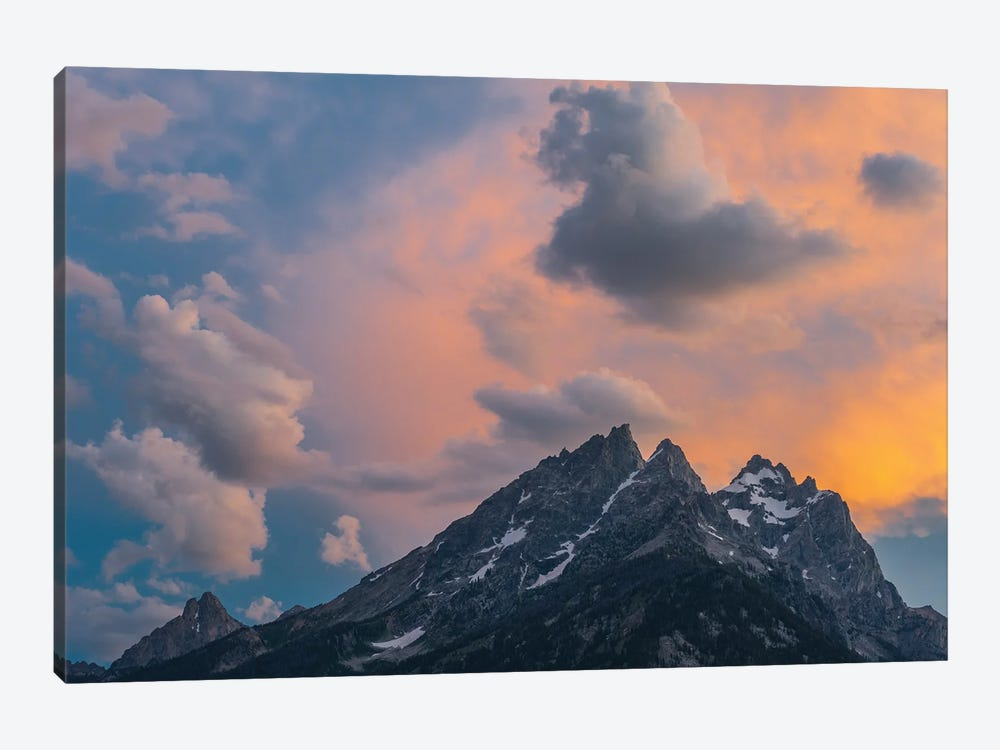 Clouds at sunset over Grand Teton Range, Grand Teton National Park, Wyoming by Jeff Foott 1-piece Canvas Wall Art