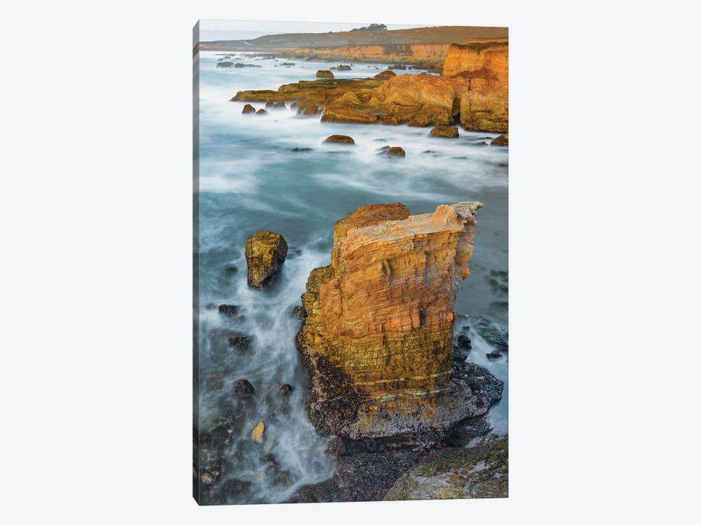 Coastline at sunset, Montana de Oro State Park, California by Jeff Foott 1-piece Canvas Artwork