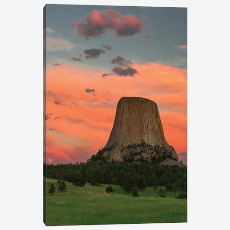 Devil's Tower National Monument , Wyoming Canvas Print #JFF32} by Jeff Foott Canvas Print