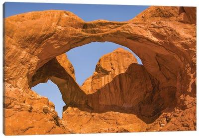 Double Arch,a pothole arch, Arches National Park, Utah Canvas Art Print