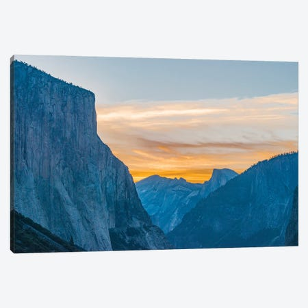 El Capitan and Half Dome, Yosemite National Park, California Canvas Print #JFF36} by Jeff Foott Canvas Artwork