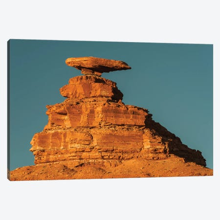 Halgaito shale rock formation called 'Mexican Hat' on the San Juan River in south-central, Utah Canvas Print #JFF50} by Jeff Foott Art Print