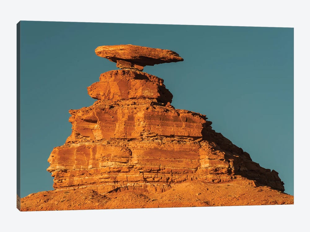 Halgaito shale rock formation called 'Mexican Hat' on the San Juan River in south-central, Utah by Jeff Foott 1-piece Canvas Art