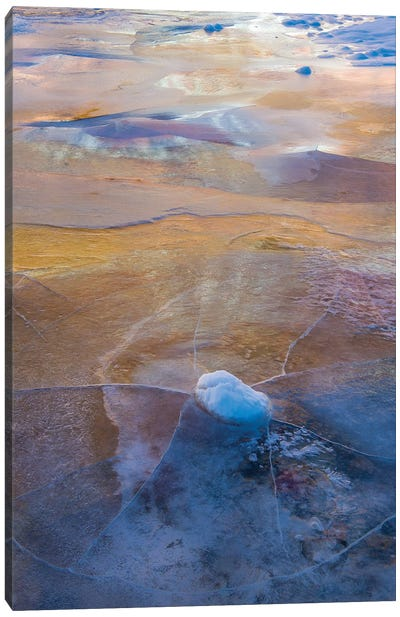 Ice on the Virgin River, Zion National Park, Utah Canvas Art Print