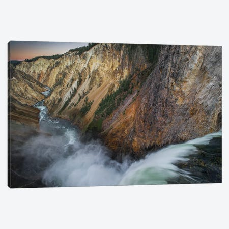 Lower Yellowstone Falls, Grand Canyon of Yellowstone, Yellowstone National Park, Wyoming Canvas Print #JFF56} by Jeff Foott Canvas Artwork