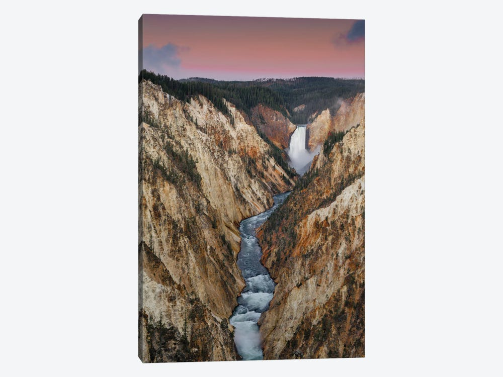 Lower Yellowstone Falls, Grand Canyon of Yellowstone, Yellowstone National Park, Wyoming by Jeff Foott 1-piece Art Print