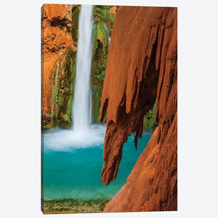 Mooney Falls, Havasupai Indian Reservation, Grand Canyon National Park, Arizona Canvas Print #JFF61} by Jeff Foott Canvas Art