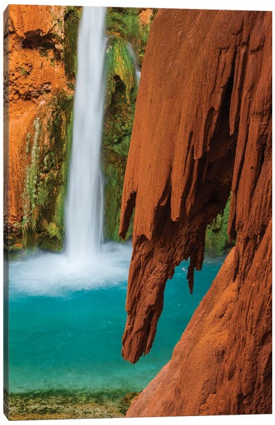 Mooney Falls, Havasupai Indian Reservation, Grand Canyon National Park, Arizona Canvas Art Print
