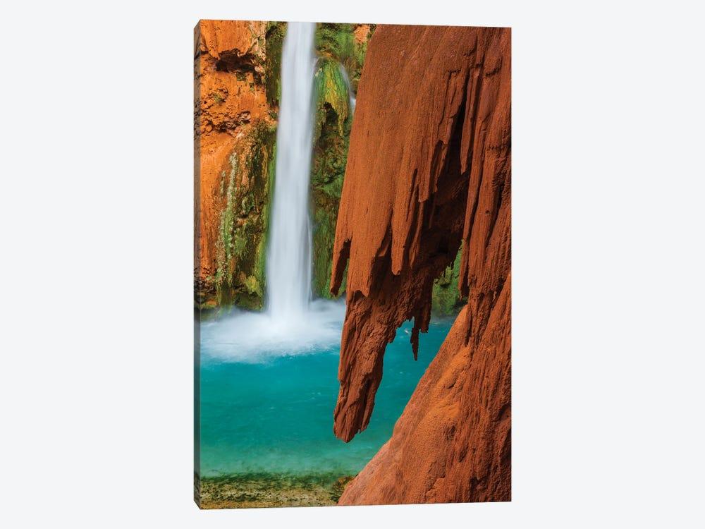 Mooney Falls, Havasupai Indian Reservation, Grand Canyon National Park, Arizona by Jeff Foott 1-piece Canvas Art