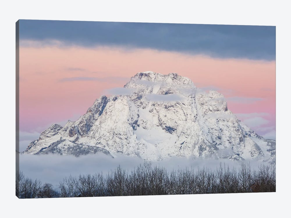 Mount Moran, Grand Teton National Park, Wyoming by Jeff Foott 1-piece Canvas Artwork