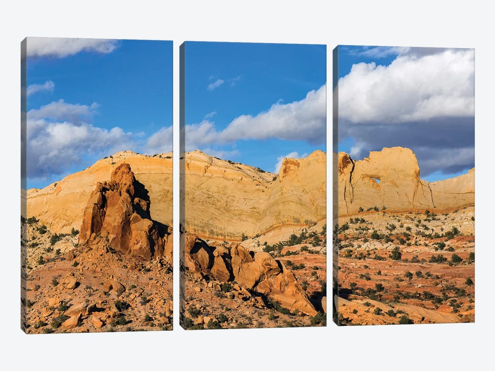 Peek-A-Boo Arch, Grand Staircase-Escalante National Monument, Utah by Jeff Foott 3-piece Canvas Art