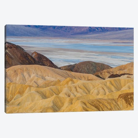 Rock formations, Zabriskie Point, Death Valley National Park, California Canvas Print #JFF76} by Jeff Foott Canvas Wall Art