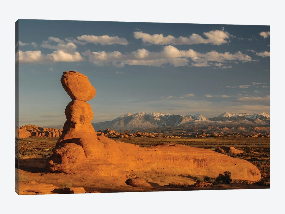 Sandstone rock formation, Arches National Park, Utah by Jeff Foott 1-piece Canvas Print