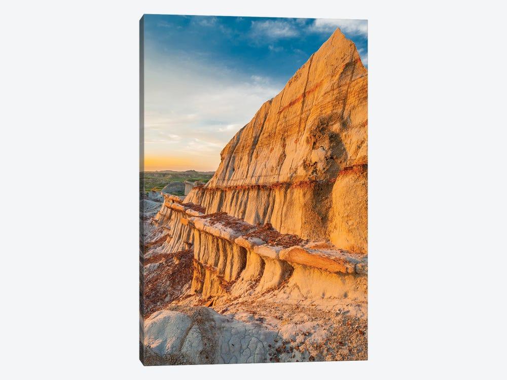 Sandstone rock formations, Theodore Roosevelt National Park, North Dakota by Jeff Foott 1-piece Canvas Art Print
