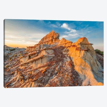 Sandstone rock formations, Theodore Roosevelt National Park, North Dakota Canvas Print #JFF86} by Jeff Foott Canvas Art Print