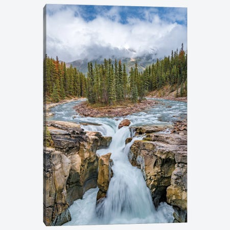 Sunwapta Falls, Sunwapta River, Jasper National Park, Alberta, Canada Canvas Print #JFF90} by Jeff Foott Art Print