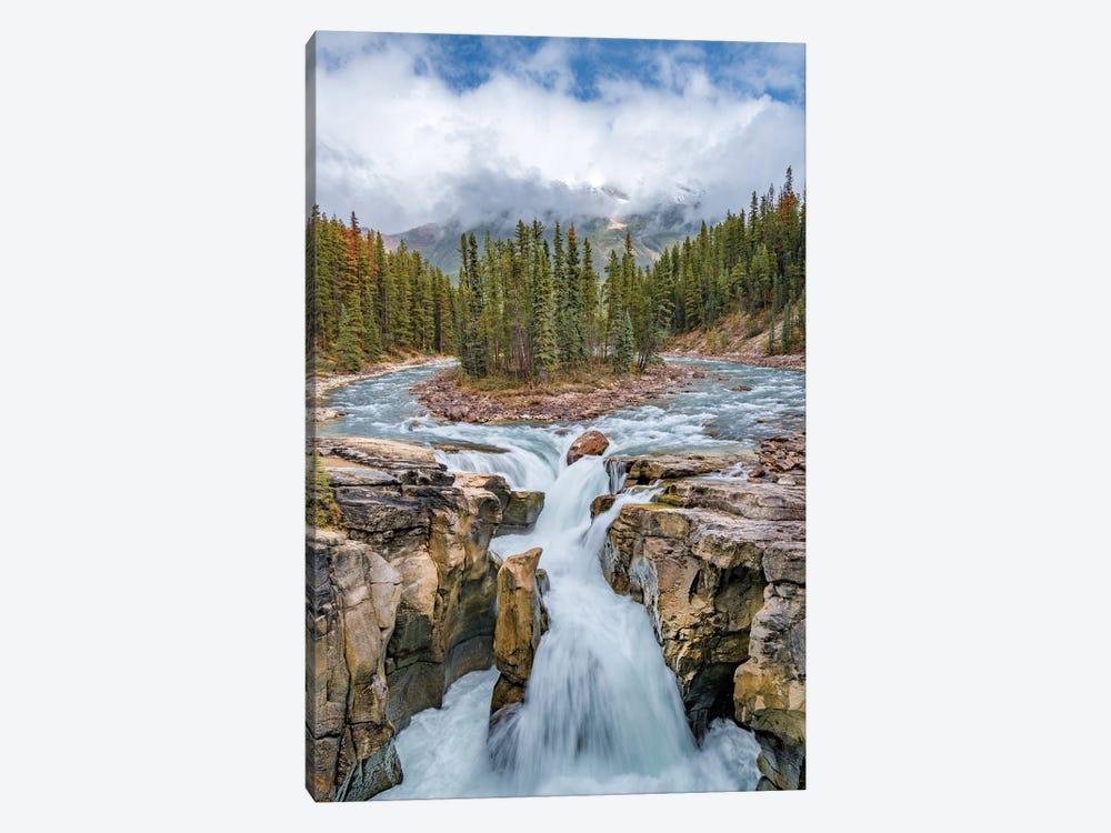 Sunwapta Falls, Sunwapta River, Jasper National Park, Alberta, Canada by Jeff Foott 1-piece Canvas Wall Art