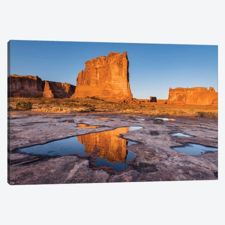 The Organ reflect in pool, Arches National Park, Utah Canvas Print #JFF91} by Jeff Foott Canvas Print