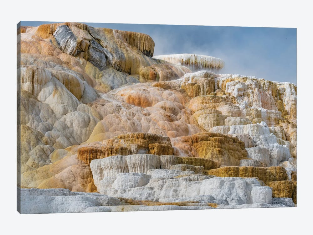 Travertine formations, Mammoth Hot Springs, Yellowstone National Park, Wyoming by Jeff Foott 1-piece Art Print
