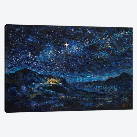Nativity Canvas Print #JFJ10} by Jeff Johnson Canvas Art Print