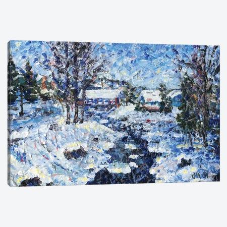 Winter's Calm Canvas Print #JFJ19} by Jeff Johnson Canvas Print