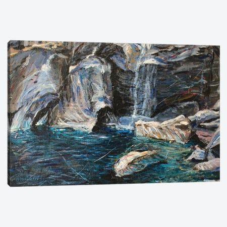 Vernal Falls Canvas Print #JFJ28} by Jeff Johnson Canvas Artwork