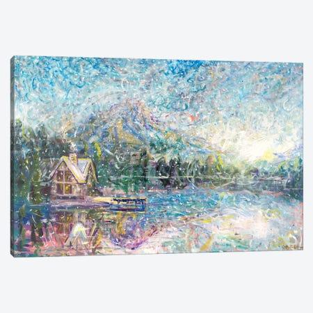Lakeside Cottage Canvas Print #JFJ31} by Jeff Johnson Canvas Print