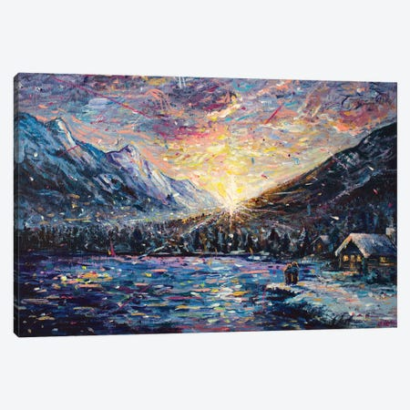 First Snow Canvas Print #JFJ6} by Jeff Johnson Canvas Artwork