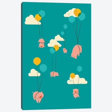 Pigs Fly Canvas Print #JFL104} by Jay Fleck Canvas Art Print
