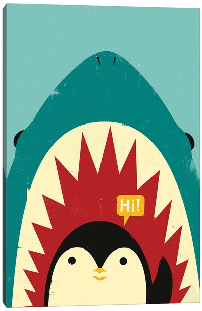 Hi! Canvas Art Print