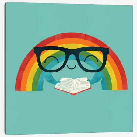 Reading Rainbow Canvas Print #JFL15} by Jay Fleck Canvas Artwork